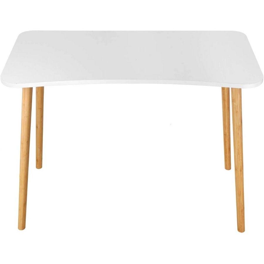 mesa ordenador minimalista blanca