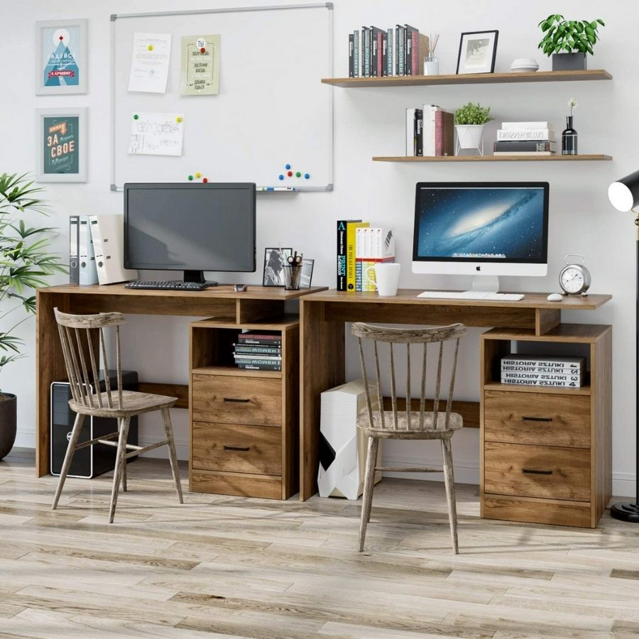 mesa pc madera minimalista